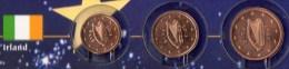 Kleinmünzen-Set EURO Irland 2002-2013 Stg. 4€ Prägeanstalt In Dublin EIRE Kleinmünzen-Satz With 1,2,5C. Coins Of Ireland - Ireland