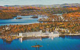 Aerial View, Resort Hotel, Lake Dupuis, L´ESTEREL, Quebec, Canada, 40-60´s - Quebec