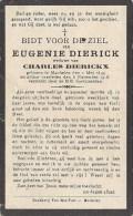 EUGENIE DIERICK Wed. Charles Dierickx - Machelen Overleden 6 Nov 1918 - Devotion Images