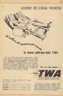 # TWA 1950s Italy Advert Pubblicità Publicitè Publicidad Reklame New York California Airlines Airways Aviation Airplane - Publicités