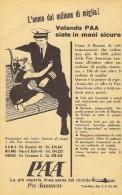 # PAA 1950s Italy Advert Pubblicità Publicitè Publicidad Reklame New York Airlines Airways Aviation Airplane - Publicités