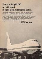 # PAN AM 1970s Italy Advert Pubblicità Publicitè Publicidad Reklame New York Airlines Airways Aviation Airplane - Advertisements
