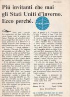 # PAN AM 1960s Italy Advert Pubblicità Publicitè Publicidad Reklame New York Airlines Airways Aviation Airplane - Advertisements