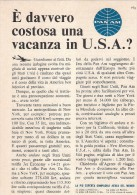 # PAN AM 1960s Italy Advert Pubblicità Publicitè Publicidad Reklame New York Airlines Airways Aviation Airplane - Publicités