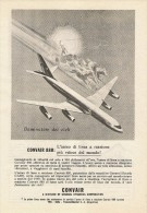 # CONVAIR 1950s Italy Advert Pub TWA DELTA TRANSCONTINENTAL Airlines Airways Aviation Airplane - Publicités