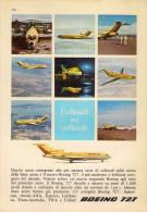 # BOEING 1960s Italy Advert Pub AMERICAN LUFTHANSA UNITED Airlines Airways Aviation Airplane - Advertisements