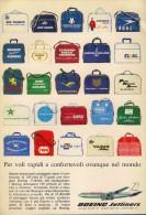 # BOEING 1960s Italy Advert Pub AMERICAN LUFTHANSA UNITED Airlines Airways Aviation Airplane - Publicités