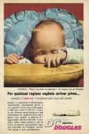 # DC DOUGLAS 1960s Italy Advert Publicitè Publicidad Reklame Airlines Airways Aviation Airplane Children - Advertisements
