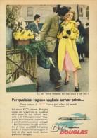 # DC DOUGLAS 1960s Italy Advert Publicitè Publicidad Reklame Airlines Airways Aviation Airplane Love - Advertisements