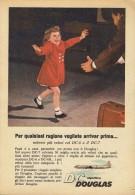 # DC DOUGLAS 1960s Italy Advert Publicitè Publicidad Reklame Airlines Airways Aviation Airplane Children Family Love - Advertisements