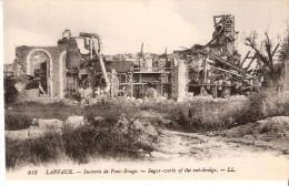 Guerre 1914-1918-Laffaux (Vailly-sur-Aisne- Soissons)-+/-1920-Ruines De La Sucrerie De Pont-Rouge-Destruction De 1917 - Soissons