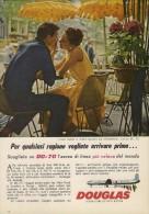 # DC DOUGLAS 1960s Italy Advert Publicitè Publicidad Reklame Airlines Airways Aviation Airplane Paris Family Love - Advertisements