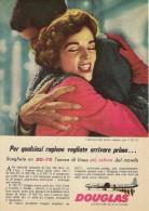 # DC DOUGLAS 1960s Italy Advert Publicitè Publicidad Reklame Airlines Airways Aviation Airplane Family Love - Advertisements