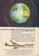 # DC8 DOUGLAS 1960s Italy Advert Publicitè Publicidad Reklame Airlines Airways Aviation Airplane - Advertisements