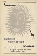 # RARE 1/6 DOUGLAS 1950s Italy Advert Publicitè Publicidad Reklame Airlines Airways Aviation Airplane - Advertisements