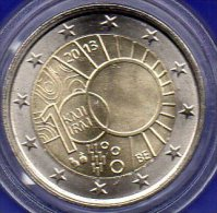 Sonderedition 2 EURO Belgien 2013 Stg 6€ 100 Jahre Meteorologie Brüssel KMI IRM 2€-Münze Im Stempelglanz Coin Of Belgica - Belgique