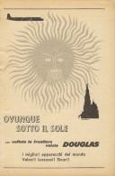 # RARE 2/6 DOUGLAS 1950s Italy Advert Publicitè Publicidad Reklame Airlines Airways Aviation Airplane - Advertisements