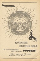 # RARE 3/6 DOUGLAS 1950s Italy Advert Publicitè Publicidad Reklame Airlines Airways Aviation Airplane - Advertisements