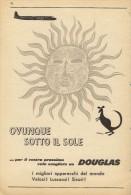 # RARE 4/6 DOUGLAS 1950s Italy Advert Publicitè Publicidad Reklame Airlines Airways Aviation Airplane - Advertisements