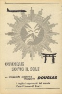 # RARE 5/6 DOUGLAS 1950s Italy Advert Publicitè Publicidad Reklame Airlines Airways Aviation Airplane - Advertisements