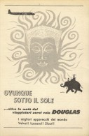 # RARE 6/6 DOUGLAS 1950s Italy Advert Publicitè Publicidad Reklame Airlines Airways Aviation Airplane - Advertisements