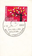 TABLE TENNIS-TISCHTENNIS-PING PONG-TENNIS DE TABLE-TENNIS TAVOLO, Belgium, 1962, Special Cancellation !! - Table Tennis