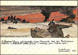 """A PEPPINO PRISCO - A RICORDO SENZA TRAMONTO DEL SUO BATTAGLIONE ALPINI """"L'AQUILA"""" DELLA """"JULIA"""", SELENJI YAR NATALE 1942 - Reggimenti"""