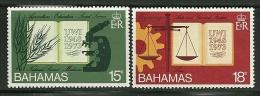 """Bahamas    """"University Of West Indies""""    Set      SC# 356-57  MNH** - Bahamas (1973-...)"""