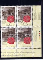 CANADA, 1997, USED  # 1640,  THE LAW SOCIETY Of UPPER CANADA, WAX SEAL, BLOCK LR - Blocs-feuillets