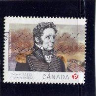 CANADA, 2012, USED # 2554, THE WAR OF 1812:  Sir Isaac Brook, Used - 1952-.... Règne D'Elizabeth II