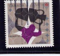 CANADA, 2013, USED  SIGNS OF ZODIAC:  AQUARIUS, VERSEAU  USED - 1952-.... Règne D'Elizabeth II