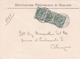 Italy 1913 King Victor Emmanuel 5c Green X 3 On Cover - Italy