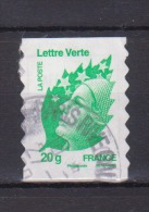 FRANCE / 2011 / Y&T N° AA 604 : Beaujard Adhésif TVP Lettre Verte 20g - Choisi - Cachet Rond - France