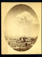 ITALIE -  NAPLES - ERUPTION VOLCANIQUE DU 26 AVRIL 1872 - PHOTOGRAPHE ALPHONSE BERNOUD - Places