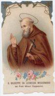 Santino NUOVO Fustellato S. GIUSEPPE DA LEONESSA - Ristampa Tipografica Da Santino Antico - PERFETTO G2 - Religione & Esoterismo