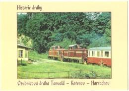 TRAIN Ceská Republika DOLNÍ POLUBNÝ Motorové Ozubnicové Lokomotivy T426.003, T426.002 TANVALD,KORENOV,HARRACHOV Autorail - Gares - Avec Trains