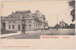 Bahnhof Baden-Baden, Chocolat Blimer, Anvers - Bahnhöfe Ohne Züge