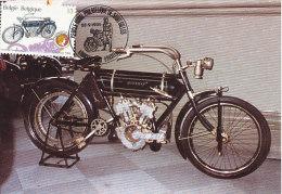 D15502 CARTE MAXIMUM CARD 1995 BELGIUM - MINERVA 1908 MOTOR BIKE CP ORIGINAL - Motos