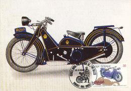 D15504 CARTE MAXIMUM CARD 1995 BELGIUM - LA MONDIALE 1929 MOTOR BIKE CP ORIGINAL - Motos