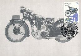 D15505 CARTE MAXIMUM CARD 1995 BELGIUM - GILLET BOL D'OR MOTOR BIKE CP ORIGINAL - Motos