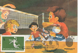 D15512 CARTE MAXIMUM CARD 1981 ROMANIA - VOLLEYBALL CP ORIGINAL - Volleyball