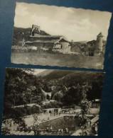 AX LES THERMES.Piscine,VIC D'OUST.Eglise,Chateau.2 Cpsm,neuve Et Voyagé,be - Ax Les Thermes