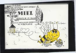 Illustrateur DIDIER GOUILLET PUB APICULTURE MIEL SC VAR ABEILLE FLAYOSC VAR - Künstlerkarten