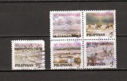 Filippine Philippines Philippinen Pilipinas 1992 Mt. Pinatubo Fund, 25s Single + 1p X 4 Se-tenant B/4 - USED (see Photo) - Philippines