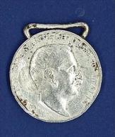 MEDAGLIA IN ARGENTO 800GR. 15,57 - CAMPAGNE D'AFRICA  1915 - 1918 - RECTO LIBIA - VITTORIO EMANUELE III - SENZA NASTRINO - Italia