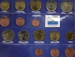 Mix-set EURO-Einführung San Marino 2002-2007 Stg 86€ Der Staatliche Münze Wehr-Türme Mit 1C.-2€ With 8 Coins Of Republik - San Marino