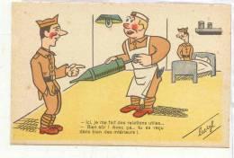 13085 LUC CYL Humour Militaire PC Paris M-27 Relations Utiles Recu Intérieurs ; Clystere Anus Malade - Humoristiques