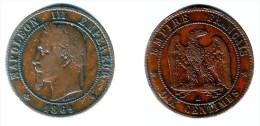 FRANCE, Napoleon III - 10 Centimes 1861-BB - KM#798.2VF - France