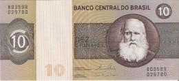 BILLETE DE BRASIL DE 10 CRUZEIROS DEL AÑO 1980 (BANK NOTE) - Brasil