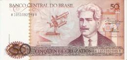 BILLETE DE BRASIL DE 50 CRUZEIROS DEL AÑO 1986  (BANKNOTE) SIN CIRCULAR-UNCIRCULATED - Brasil